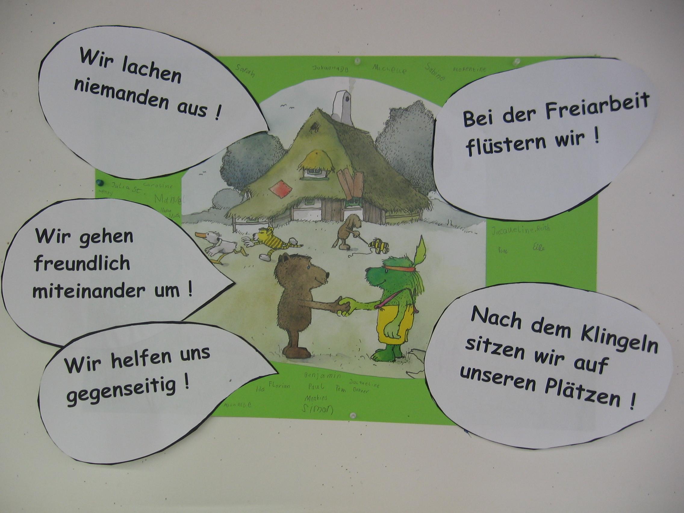 Klassenregeln grundschule bildkarten  Imágenes Krabbelwiese Arbeit Mt Lauten - Diseña Invitaciones Fotos ...